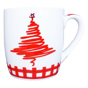 Red Christmas Tree Mug Thumbnail