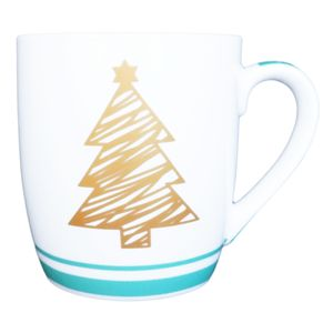 Gold Christmas Tree Mug Thumbnail