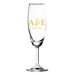 Couple's Initials Classic Champagne Wedding Favor Thumbnail