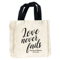 Love Never Fails Tote Bag Wedding Favor Thumbnail