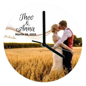 Wedding Couple Glass Clock Thumbnail